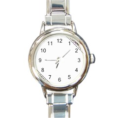 Floral Ornament Baby Girl Design Round Italian Charm Watch