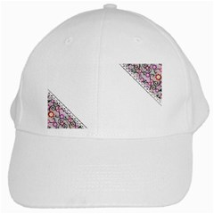 Floral Ornament Baby Girl Design White Cap