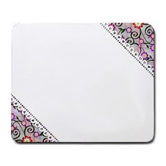 Floral Ornament Baby Girl Design Large Mousepads