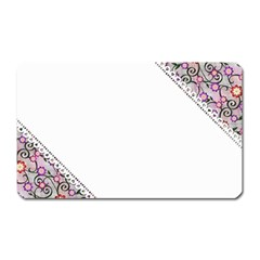 Floral Ornament Baby Girl Design Magnet (rectangular)