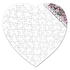 Floral Ornament Baby Girl Design Jigsaw Puzzle (heart)