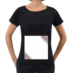 Floral Ornament Baby Girl Design Women s Loose-Fit T-Shirt (Black)