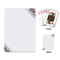Floral Ornament Baby Girl Design Playing Card
