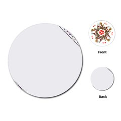 Floral Ornament Baby Girl Design Playing Cards (Round)