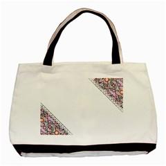 Floral Ornament Baby Girl Design Basic Tote Bag