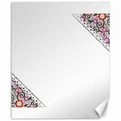 Floral Ornament Baby Girl Design Canvas 8  X 10