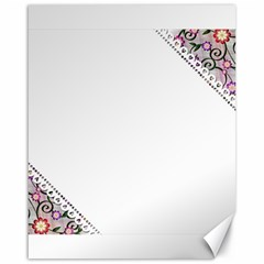 Floral Ornament Baby Girl Design Canvas 16  X 20