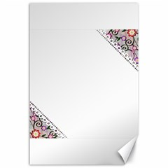 Floral Ornament Baby Girl Design Canvas 24  X 36