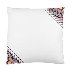 Floral Ornament Baby Girl Design Standard Cushion Case (one Side)