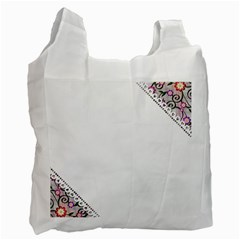 Floral Ornament Baby Girl Design Recycle Bag (two Side)