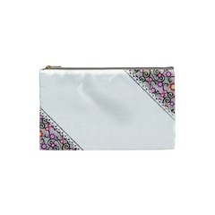 Floral Ornament Baby Girl Design Cosmetic Bag (small)