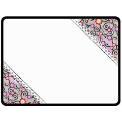 Floral Ornament Baby Girl Design Fleece Blanket (Large)