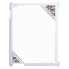 Floral Ornament Baby Girl Design Apple Ipad 2 Case (white)