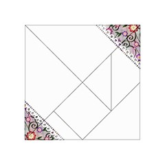 Floral Ornament Baby Girl Design Acrylic Tangram Puzzle (4  X 4 )