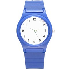 Floral Ornament Baby Girl Design Round Plastic Sport Watch (s)