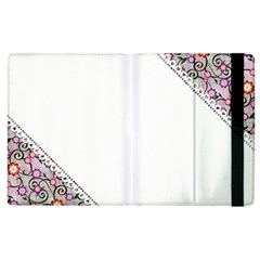 Floral Ornament Baby Girl Design Apple Ipad 3/4 Flip Case