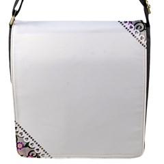 Floral Ornament Baby Girl Design Flap Messenger Bag (S)