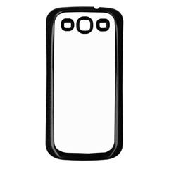 Floral Ornament Baby Girl Design Samsung Galaxy S3 Back Case (Black)