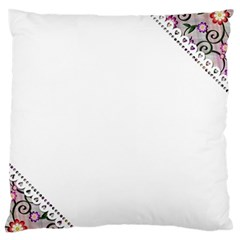 Floral Ornament Baby Girl Design Large Flano Cushion Case (one Side)