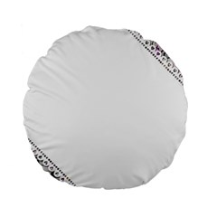 Floral Ornament Baby Girl Design Standard 15  Premium Flano Round Cushions