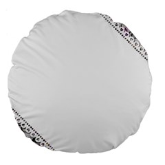 Floral Ornament Baby Girl Design Large 18  Premium Flano Round Cushions