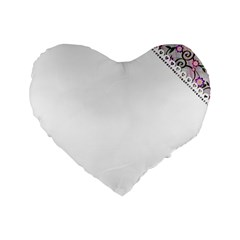 Floral Ornament Baby Girl Design Standard 16  Premium Flano Heart Shape Cushions