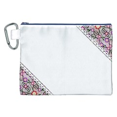 Floral Ornament Baby Girl Design Canvas Cosmetic Bag (XXL)
