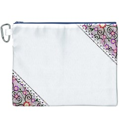 Floral Ornament Baby Girl Design Canvas Cosmetic Bag (xxxl)