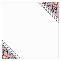 Floral Ornament Baby Girl Design Large Satin Scarf (Square)