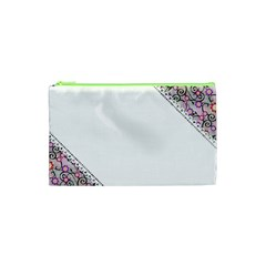 Floral Ornament Baby Girl Design Cosmetic Bag (XS)