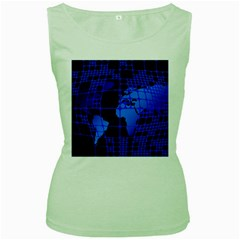 Network Networking Europe Asia Women s Green Tank Top