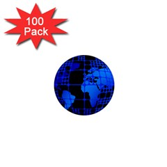 Network Networking Europe Asia 1  Mini Magnets (100 Pack)