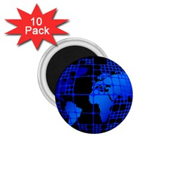 Network Networking Europe Asia 1.75  Magnets (10 pack)