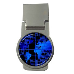 Network Networking Europe Asia Money Clips (Round)