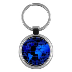 Network Networking Europe Asia Key Chains (round)
