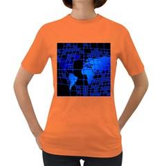 Network Networking Europe Asia Women s Dark T-Shirt