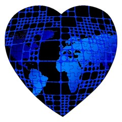Network Networking Europe Asia Jigsaw Puzzle (heart)