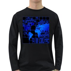 Network Networking Europe Asia Long Sleeve Dark T-Shirts
