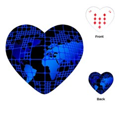 Network Networking Europe Asia Playing Cards (heart)