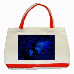 Network Networking Europe Asia Classic Tote Bag (red)