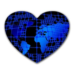 Network Networking Europe Asia Heart Mousepads
