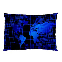 Network Networking Europe Asia Pillow Case