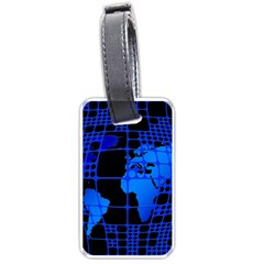 Network Networking Europe Asia Luggage Tags (one Side)