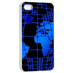 Network Networking Europe Asia Apple iPhone 4/4s Seamless Case (White)