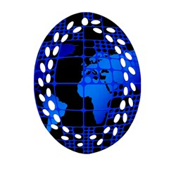 Network Networking Europe Asia Ornament (oval Filigree)