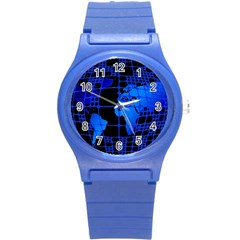 Network Networking Europe Asia Round Plastic Sport Watch (s)