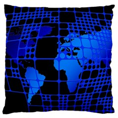 Network Networking Europe Asia Large Cushion Case (two Sides)