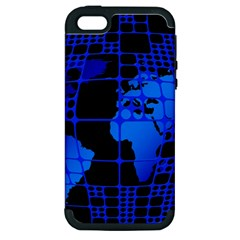 Network Networking Europe Asia Apple iPhone 5 Hardshell Case (PC+Silicone)