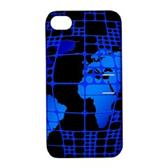 Network Networking Europe Asia Apple Iphone 4/4s Hardshell Case With Stand