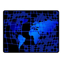 Network Networking Europe Asia Double Sided Fleece Blanket (small)